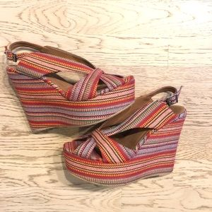 Jeffrey Campbell multi color wedges